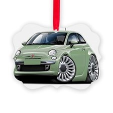 Fiat 500 Lt Green Car Ornament