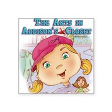 "Addisons Closet Square Sticker 3"" x 3"""