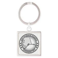 Anchorage Alaska LDS Mission Square Keychain