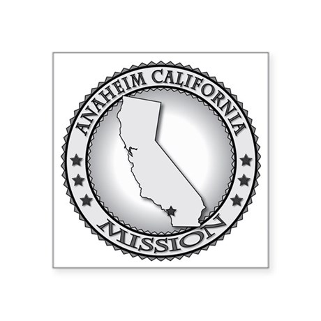 "Anaheim California LDS Miss Square Sticker 3"" x 3"""
