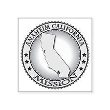 "Anaheim California LDS Miss Square Sticker 3"" x 3"""