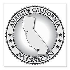 "Anaheim California LDS M Square Car Magnet 3"" x 3"""
