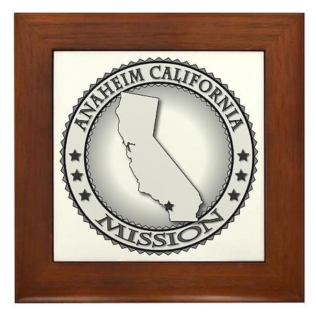 Anaheim California LDS Mission Framed Tile