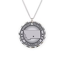 Billings Montana LDS Mission Necklace Circle Charm