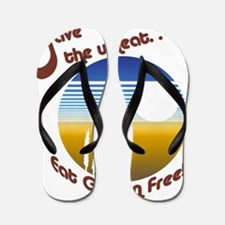 save the wheat Flip Flops
