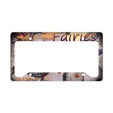 2012 fairy calendar cover caf License Plate Holder