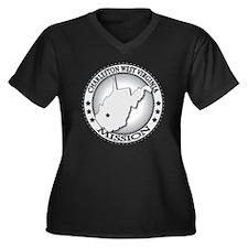 Charleston W Women's Plus Size Dark V-Neck T-Shirt