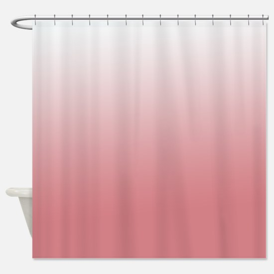 coral and white shower curtain. Coral Ombre Shower Curtains CafePress Charming And White Curtain Ideas  Best idea home