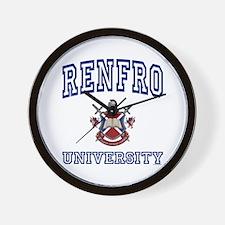 RENFRO University Wall Clock