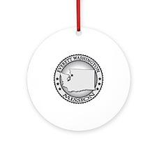 Everett Washington LDS Mission Round Ornament