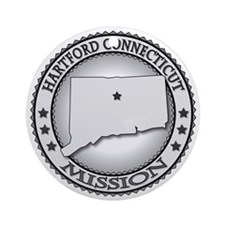 Hartford Connecticut LDS Mission Round Ornament