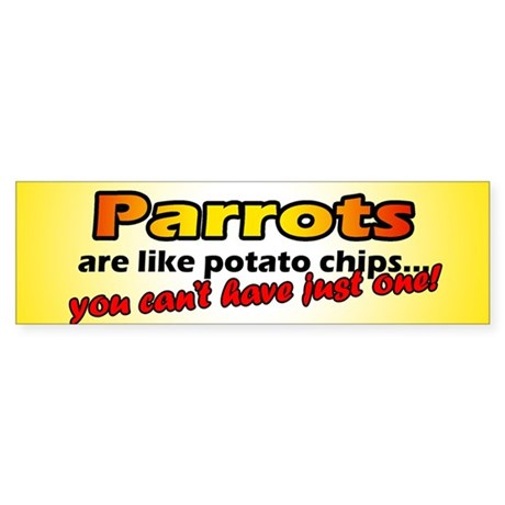Potato Chips Parrot Bumper Sticker