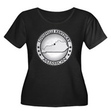 Louisvil Women's Plus Size Dark Scoop Neck T-Shirt