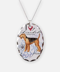airedale-keychain2 Necklace Oval Charm