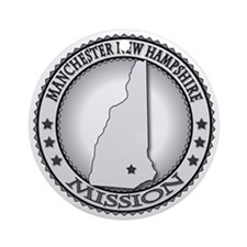 Manchester New Hampshire LDS Missio Round Ornament