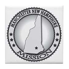 Manchester New Hampshire LDS Mission Tile Coaster