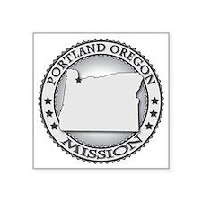 "Portland Oregon LDS Mission Square Sticker 3"" x 3"""