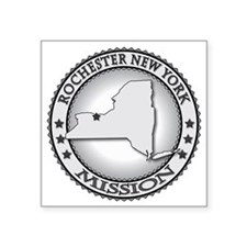 "Rochester New York LDS Miss Square Sticker 3"" x 3"""