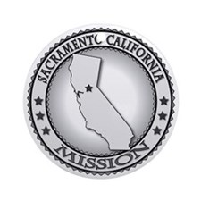 Sacramento California LDS Mission Round Ornament