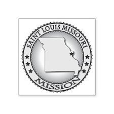 "Saint Louis Missouri LDS Mi Square Sticker 3"" x 3"""