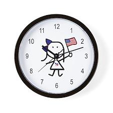 Girl & Democrat Wall Clock