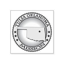 "Tulsa Oklahoma LDS Mission Square Sticker 3"" x 3"""