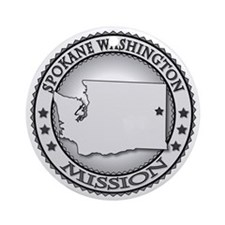 Spokane Washington LDS Mission Round Ornament