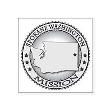 "Spokane Washington LDS Miss Square Sticker 3"" x 3"""