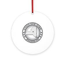 Utica New York LDS Mission Round Ornament