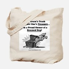 Rescued Dog Treasure Tote Bag
