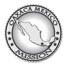 Oaxaca Mexico LDS Mission Round Car Magnet