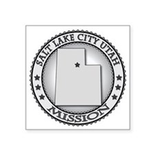 "Salt Lake City Utah LDS Mis Square Sticker 3"" x 3"""