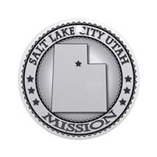 Salt Lake City Utah LDS Mission Round Ornament