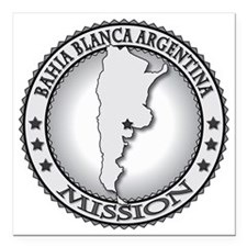 "Bahia Blanca Argentina L Square Car Magnet 3"" x 3"""