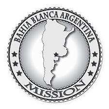 Bahia Blanca Argentina LDS Missio Round Car Magnet