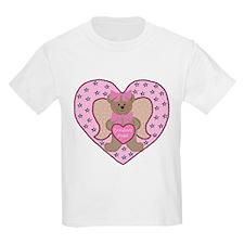 Grandma's Angel Teddy Kids T-Shirt