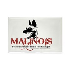 Malinois -OVL sticker 2 Rectangle Magnet