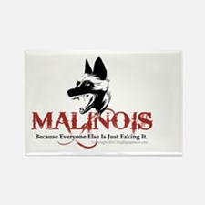 Malinois -OVL sticker 2 Rectangle Magnet
