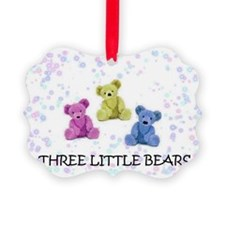 three little bears Picture Ornament