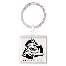 Illuminati Square Keychain