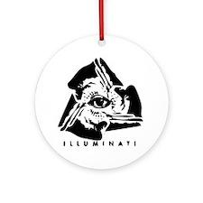 Illuminati Round Ornament