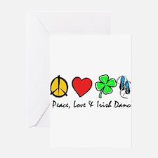 Peace Love Irish Dance Greeting Cards