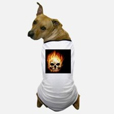 Flaming Skull Dog T-Shirt
