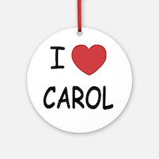 CAROL Round Ornament