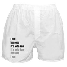 iRunBecause_ItsWhoIam_Light_Repeat_Bl Boxer Shorts