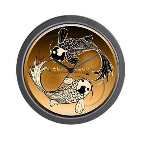 Zen fish numberless clock by philosophy1 - Numberless clock ...