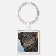 Australian Shepherd Photo Square Keychain