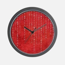 Bling onRed_flipflop Wall Clock