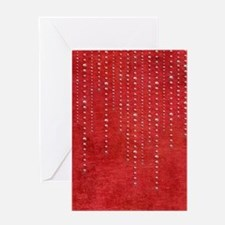 Bling onRed_flipflop Greeting Card