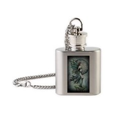 fearless journal cafe press Flask Necklace
